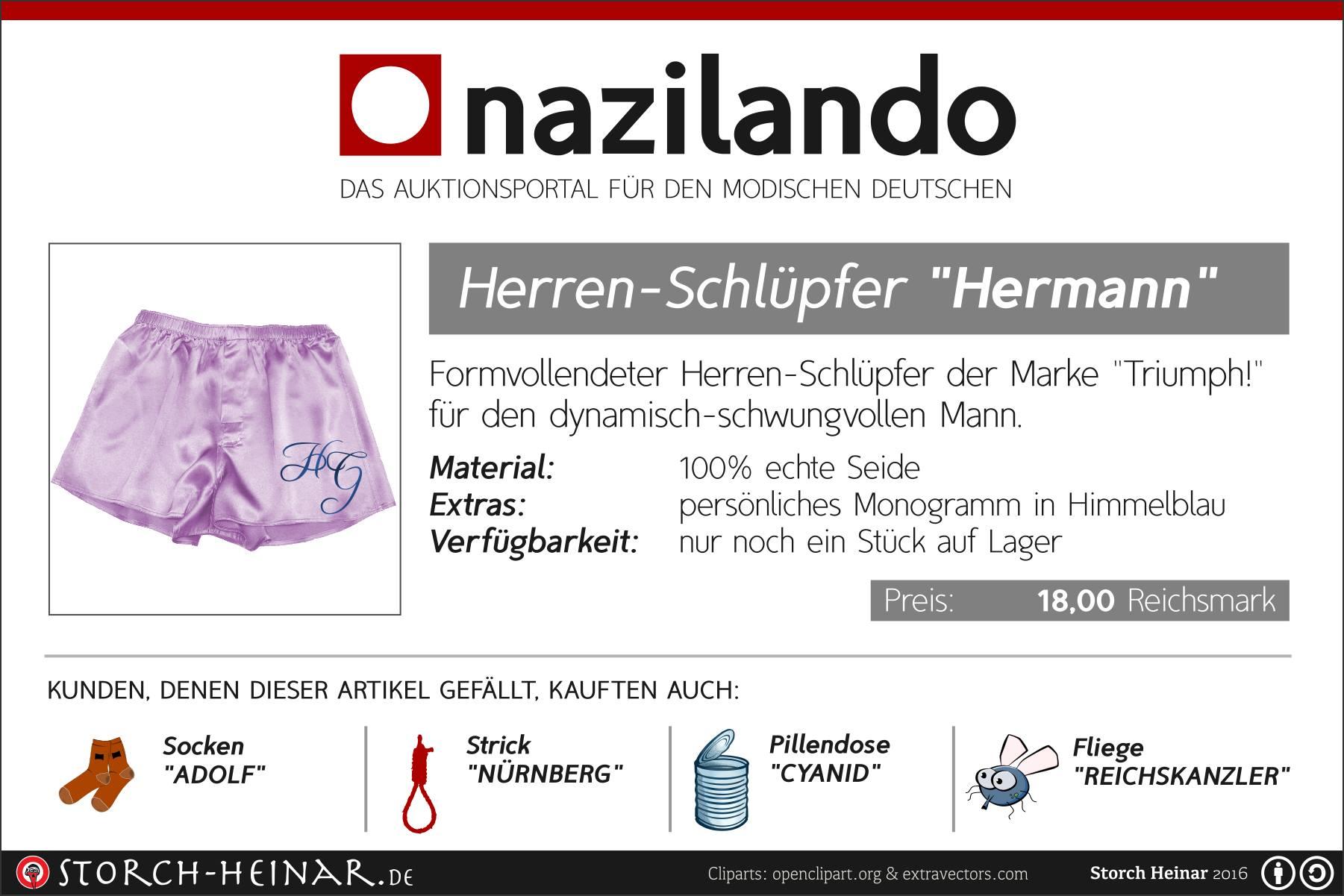 Auktion Fur Nazi Devotionalien Gorings Unterhose Unterm Hammer Endstation Rechts